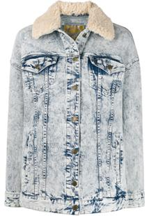 Michael Michael Kors Acid Wash Denim Jacket - Azul