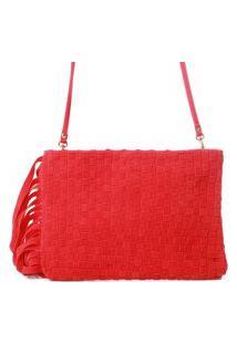 Bolsa Biro Camurça Vermelho