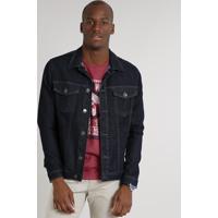 5ea9508157 Jaqueta Jeans Masculina Com Bolsos Azul Escuro