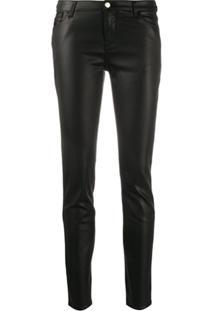 Emporio Armani Calça Jeans Skinny Cintura Alta - Preto