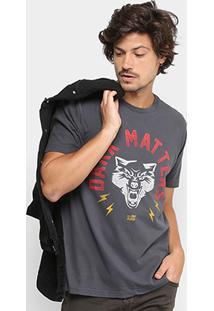 Camiseta Ellus 2Nd Floor Gola Careta Stone Dark Masculina - Masculino
