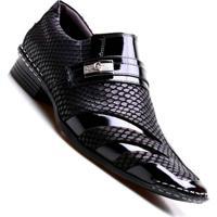 a6115cb31 Sapato Social Masculino Calvest Luxo - Masculino-Preto