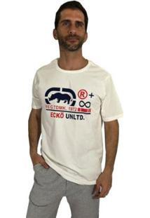 Camiseta Ecko Infinite Masculina - Masculino-Off White