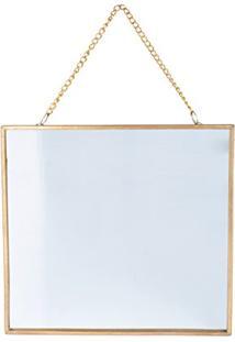 Bandeja Metal/Vidro Espelho Rectangle Glass Edges, Urban, Dourado