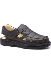 2db5d9f54 ... Sandália Masculina 302 Em Couro Floater Doctor Shoes - Masculino-Café