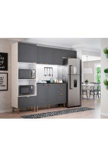 Cozinha Compacta Nevada Ix 7 Pt 4 Gv Grafite E Branca