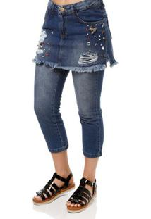 c74d5c60f Calça Jeans Feminina Uber Azul
