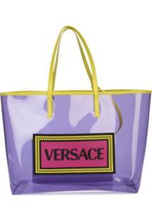 Versace Bolsa Com Logo - Roxo