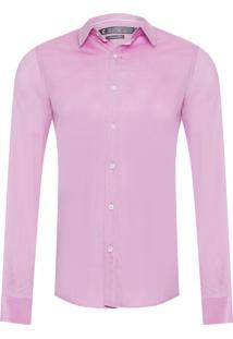 Camisa Masculina Chamb Brilho Social - Rosa