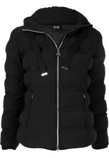 Ea7 Emporio Armani Belted Puffer Jacket - Preto