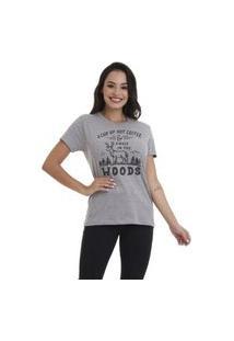 Camiseta Jay Jay Basica Woods Cinza Mescla Dtg