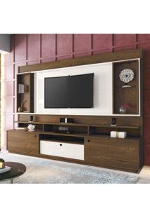 Estante Home Para Tv Até 58 Polegadas Antares Edn Móveis Nogal/Off White