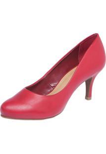 Scarpin Bottero Bico Redondo Vermelho