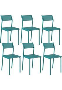 Cadeira 1709 Color Uv 06 Unidades Turquesa Carraro