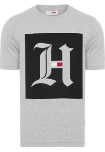 Camiseta Masculina Box Logo - Cinza