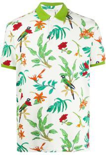 Etro Parrot Floral Print Polo Shirt - Neutro