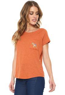 Camiseta Triton Bordada Laranja