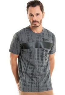 Camiseta Com Manzi Over Cinza Bgo
