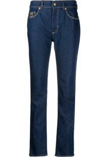 Versace Jeans Couture Calça Jeans Reta Cintura Média - Azul