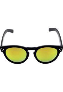 Zattini. Óculos De Sol Khatto Round Young Feminino - Feminino-Preto+Amarelo 03121f4636