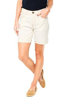 Bermuda Jeans Cantão Patch Off-White