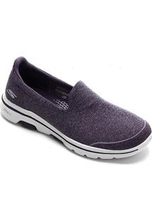 Tênis Skechers Go Walk 5-Super Sock Feminino - Feminino-Roxo