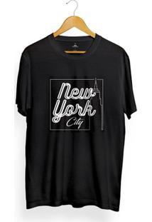 Camiseta Skill Head New York City - Masculino-Preto