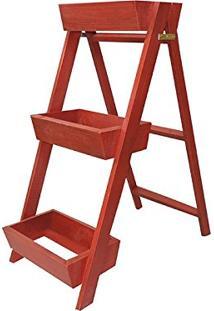 Escada Jardineira Vermelha