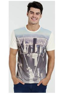 Camiseta Masculina Manga Curta Cidade Marisa