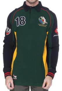 Blusa Kevingston Brunswick Rugby South Africa Verde Gola Polo Bordado Rugby