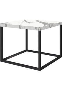 Mesa Centro Cube Thassos Aco Preta 0,32 Cm (Alt) - 58978 - Sun House