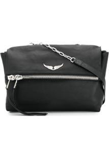 Zadig&Voltaire Twin'S Zip Shoulder Bag - Preto