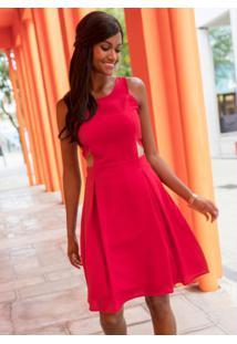 Vestido Evasê Vermelho