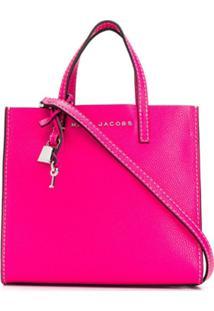 Marc Jacobs Bolsa Tote Grind Mini - Rosa