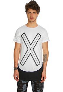 T-Shirt Wosmock Rickon Alongada - Feminino-Branco