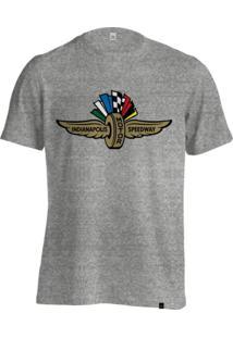 Camiseta Fórmula Retrô Vintage Indianapolis Indy 500 - Cinza