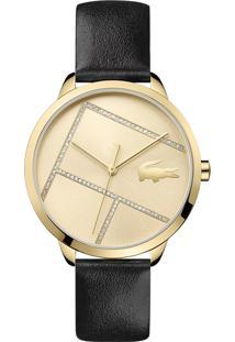 Relógio Lacoste Feminino Couro Preto - 2001096