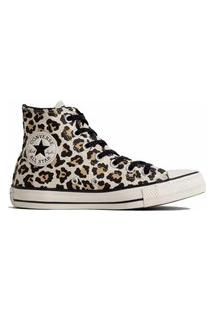 Tênis Converse All Star Chuck Animal Print Hi Bege Amendoa Ct13070001