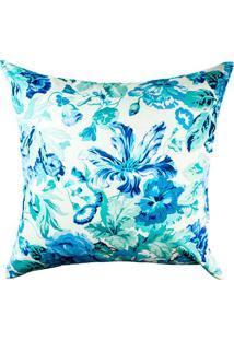 Capa De Almofada Panamá Floral- Bege Claro & Azul Escurostm Home