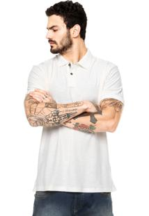 Camisa Polo Manga Curta Redley Bordado Off-White