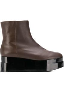 Clergerie Ankle Boot Com Plataforma - Marrom