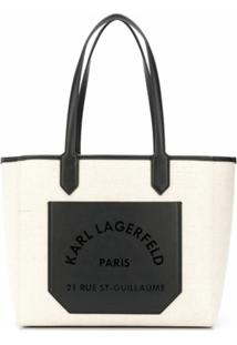 Karl Lagerfeld Bolsa Tote K/Journey Com Logo - Neutro