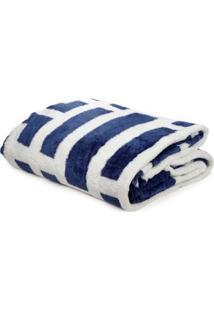 Cobertor King Corttex Azul Marinho