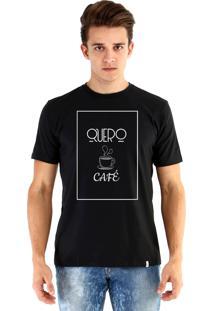 Camiseta Ouroboros Quero Café Preto