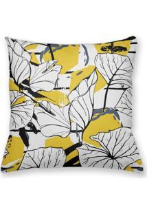 Capa De Almofada Decorativa Own Folhas Arte Abstrata 45X45 - Somente Capa