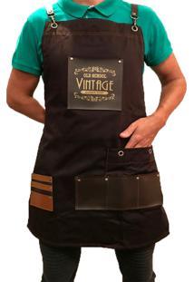 Avental Lucinoze Camisetas Vintage Preto