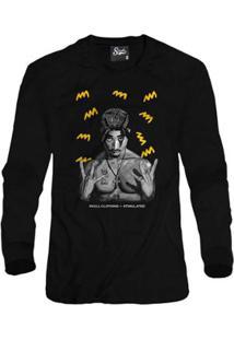 Casaco Moletom Skull Clothing Tupac Yellow Masculino - Masculino