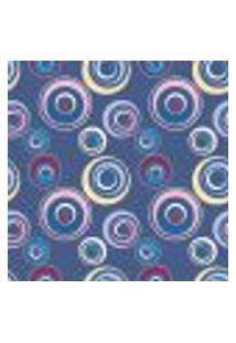 Papel De Parede Adesivo - Círculos Azul - 012Ppa