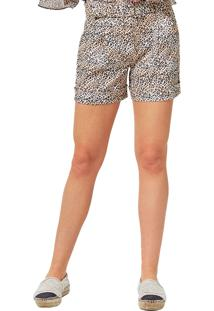 Shorts Mx Fashion Animal Print Willy Amarelo