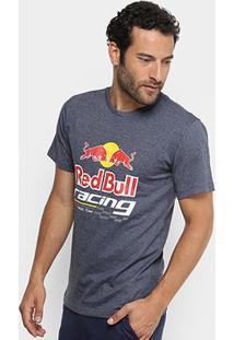 Camiseta Red Bull Racing Estampada Masculina - Masculino